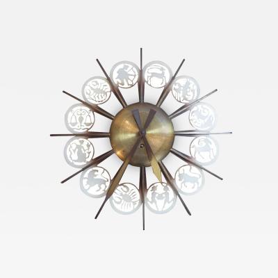 Zodiac Themed Wall Clock