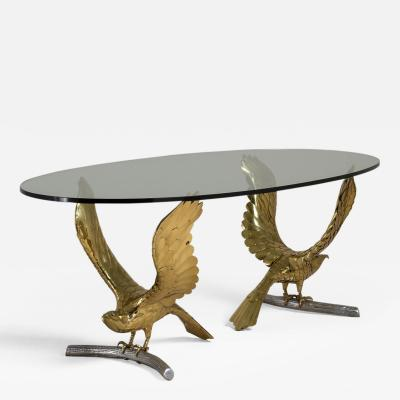 alain chervet An Alain Chervet Brass and Cast Bronze Eagle Based Table 1980s