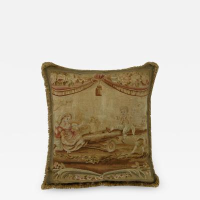 antique 18th Century French Tapestry Pillow