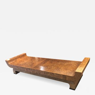 art deco longest superb burl coffee table
