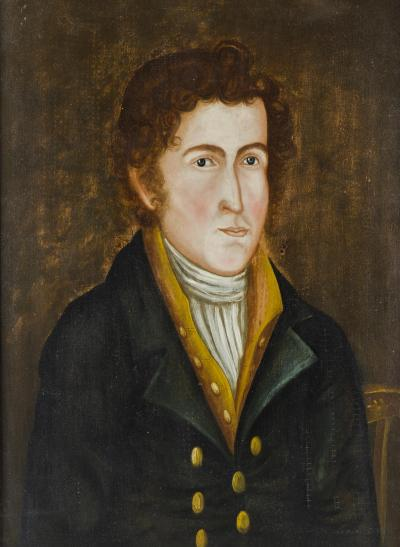 Asahel Lynde Powers Portrait of a Young Man c 1835