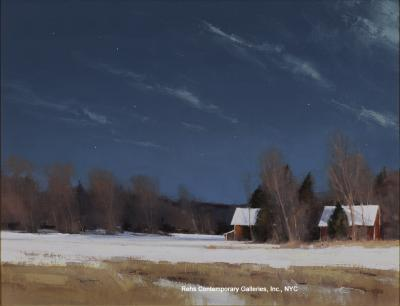 Ben Bauer Grant Township Farm by Moonlight