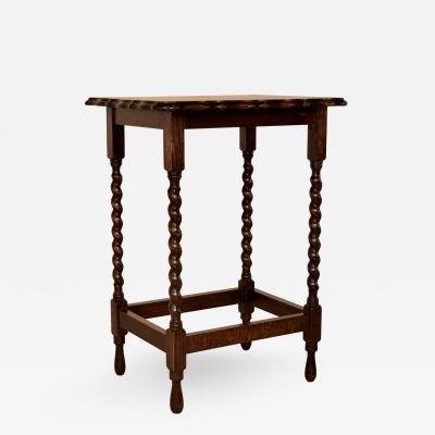 c 1900 English Oak Side Table