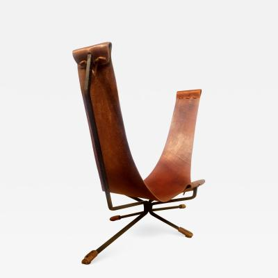 dan wegner Loveseat by Dan Wegner Wrought Iron Sling Chair California Studio c 1972