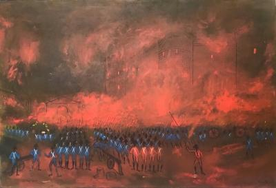 la prise de la Bastille by Nicola Ortis POUCETTE 1935 2006