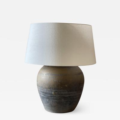lamp table lamp mid modern campaign old vase ceramic