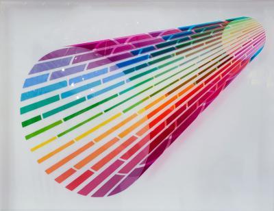leonard janklow Black to Color 2 optical art