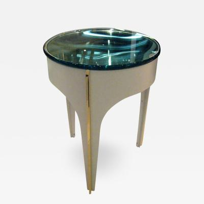 ma 39s Custom Ivory Magnifying Lens End Table