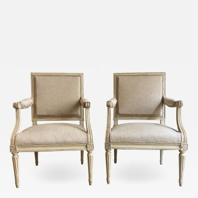 pair of Louis XVI armchairs