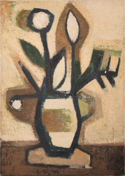 ramon prats SPAIN Ramon Prats Artist Abstract Painting Flower Power Art Oil on Canvas 1960s