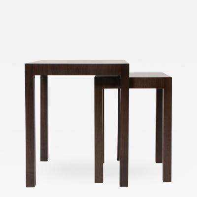 reGeneration Furniture Set of 3 custom made mahogany tables 2 nest