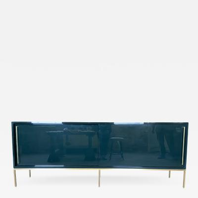 reGeneration Furniture re 379 buffed lacquer credenza in essex green