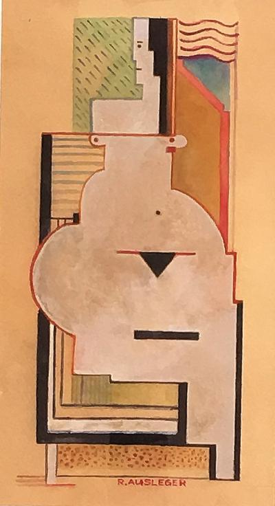 rudolf Ausleger Untitled Cubist Nude