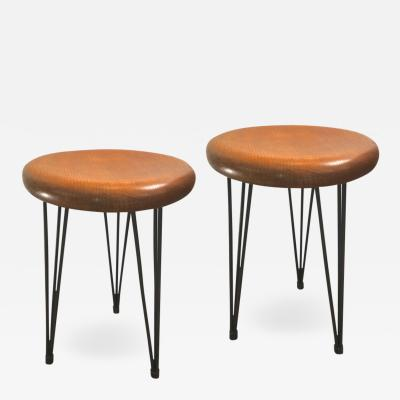superb Pure design pair of organic 50s stools