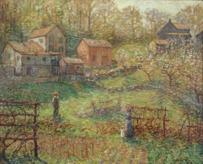 Winfield Scott Clime A Village Garden Old Lyme n d