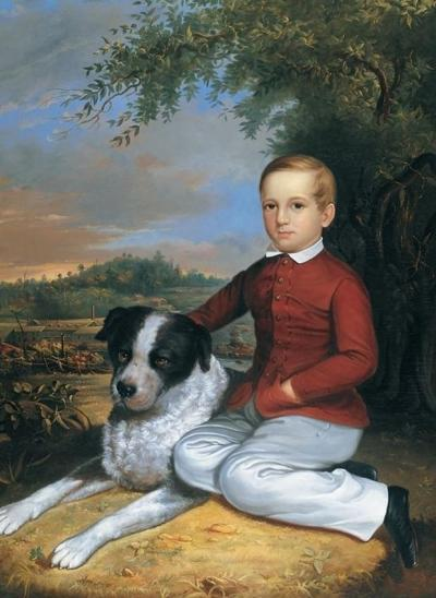 Charles Octavius Cole Boy with Dog Portland Maine 1850