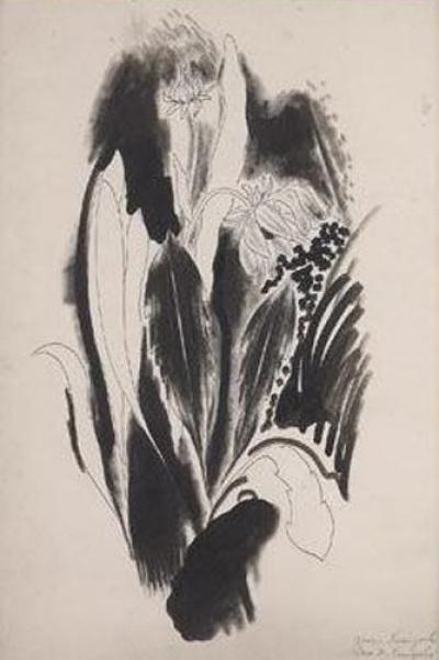 Yasuo Kuniyoshi Two Flowers c 1922