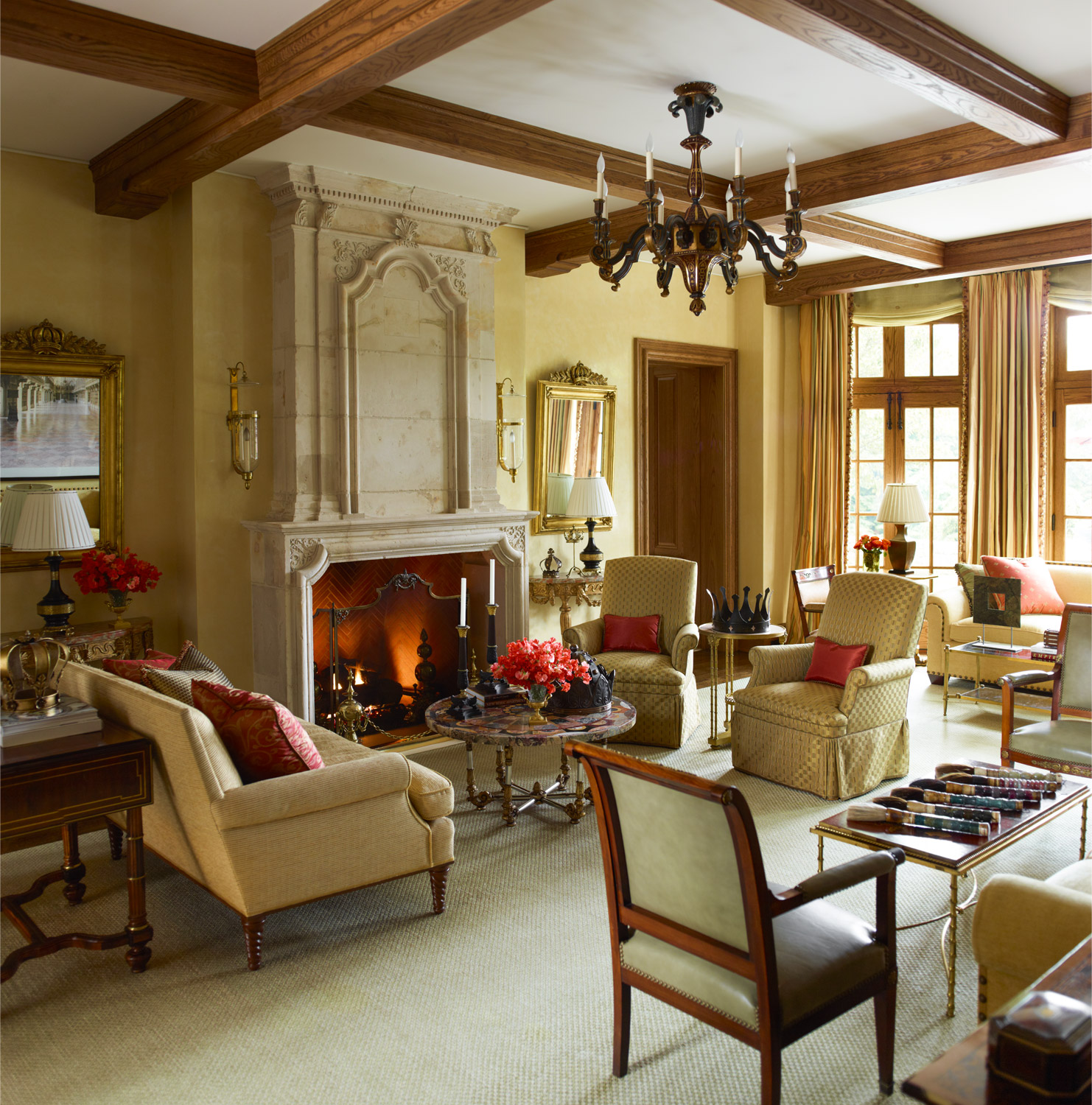 Country french flair in connecticut by cullman kravis for French country websites