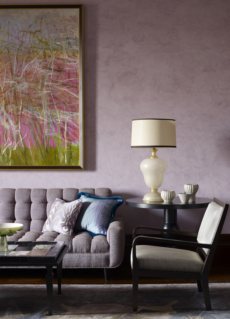 Upper west side residence by drake anderson for Mauve living room ideas