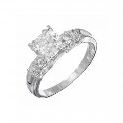 90 Carat Diamond Old European Cut Platinum Engagement Ring - 1050259