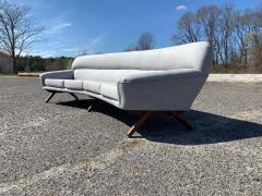 A Mikael Laursen Illum Wikkelso Mikael Laursen 4 Seat Sofa Denmark 1960s - 1318374