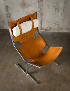 A Polak Leather Sling Lounge Chair by A Polak - 621080