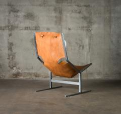 A Polak Leather Sling Lounge Chair by A Polak - 621081