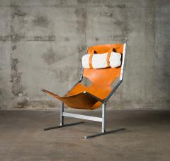 A Polak Leather Sling Lounge Chair by A Polak - 621082