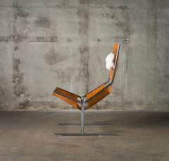 A Polak Leather Sling Lounge Chair by A Polak - 621083