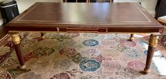 A Rudin Regency Style A Rudin Designer Writing Table Partners Desk - 2067840