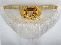 A V Mazzega Clear Murano glass gold plate Mid Century Vintage sconces Mazzega Italy 1970 - 1954445