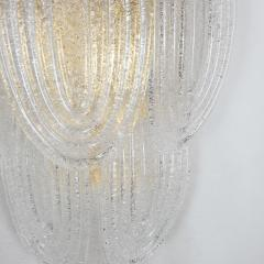 A V Mazzega Clear Murano glass gold plate Mid Century Vintage sconces Mazzega Italy 1970 - 1954449