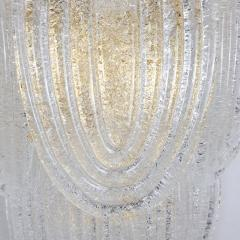 A V Mazzega Clear Murano glass gold plate Mid Century Vintage sconces Mazzega Italy 1970 - 1954450