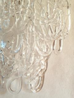 A V Mazzega Clear Spaghetti Murano Glass Sconces Mid Century Modern by Mazzega 1970s - 1415762