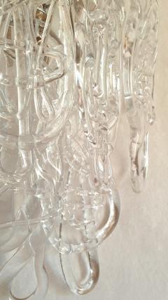 A V Mazzega Clear Spaghetti Murano Glass Sconces Mid Century Modern by Mazzega 1970s - 1415768