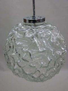 A V Mazzega Italian Mid Century Blown Murano Glass Pendant or Lantern Attributed to Mazzega - 1876806
