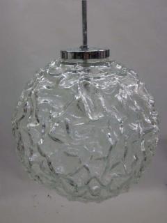 A V Mazzega Italian Mid Century Blown Murano Glass Pendant or Lantern Attributed to Mazzega - 1876807