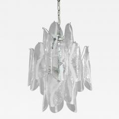 A V Mazzega Large Chandelier with Art Glass Panels by A V Mazzega - 189826