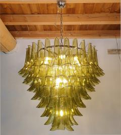 A V Mazzega Large Mid Century Modern 7 tier Green Murano glass chandelier by Mazzega Italy - 1959451