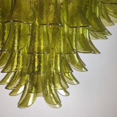 A V Mazzega Large Mid Century Modern 7 tier Green Murano glass chandelier by Mazzega Italy - 1959453