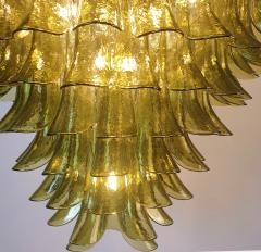 A V Mazzega Large Mid Century Modern 7 tier Green Murano glass chandelier by Mazzega Italy - 1959454