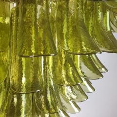A V Mazzega Large Mid Century Modern 7 tier Green Murano glass chandelier by Mazzega Italy - 1959455