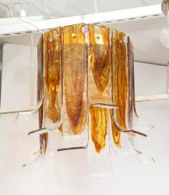 A V Mazzega Mazzega Amber Clear Semi Flushmount - 1924279