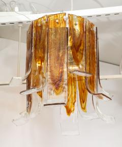A V Mazzega Mazzega Amber Clear Semi Flushmount - 1924280