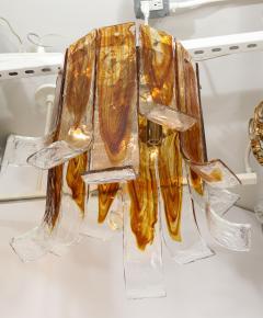 A V Mazzega Mazzega Amber Clear Semi Flushmount - 1924281
