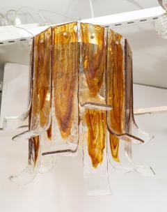 A V Mazzega Mazzega Amber Clear Semi Flushmount - 1924282