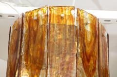 A V Mazzega Mazzega Amber Clear Semi Flushmount - 1924283