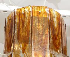 A V Mazzega Mazzega Amber Clear Semi Flushmount - 1924284