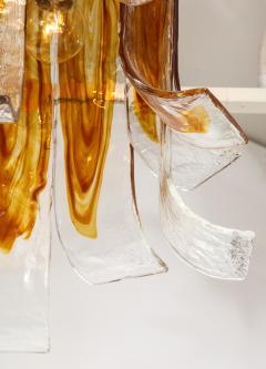 A V Mazzega Mazzega Amber Clear Semi Flushmount - 1924289
