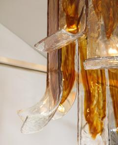 A V Mazzega Mazzega Amber Clear Semi Flushmount - 1924290